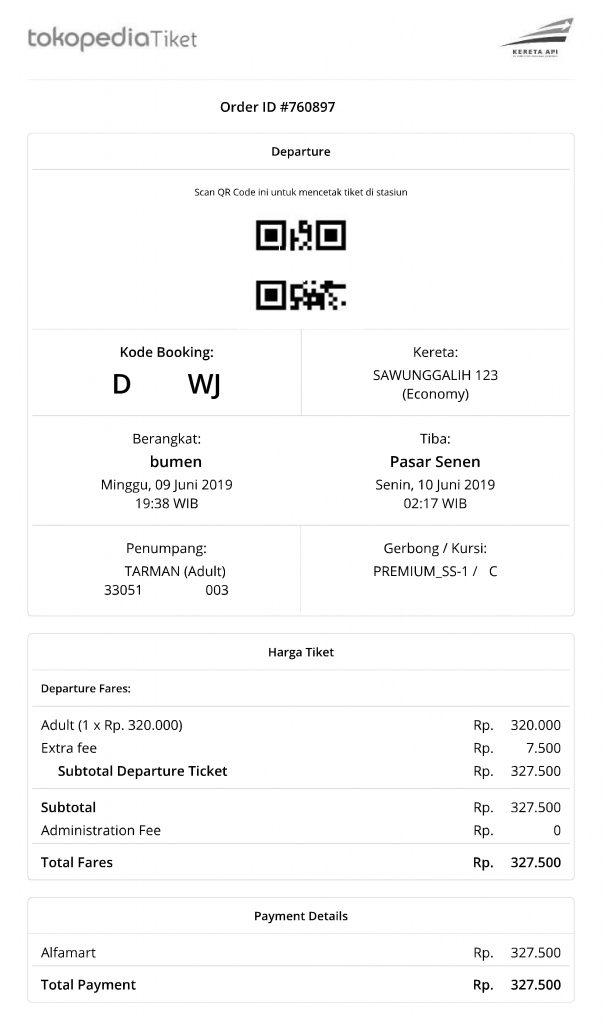 Tiket Kereta Lebaran Tokopedia