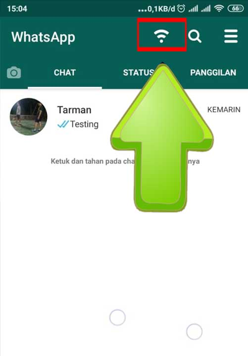 Mematikan Koneksi Whatsapp
